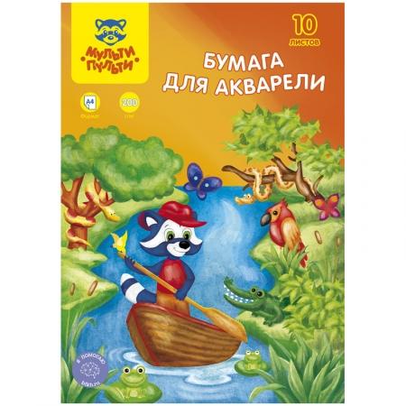 """Папка для акварели А4 Мульти-Пульти """"Приключения Енота"""""""