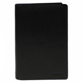 Обложка для паспорта Protege Classique из натуральной кожи, черная, с 4-мя карманами