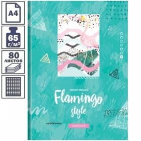 "Бизнес-блокнот А4 OfficeSpace ""Стиль. Flamingo"", 80 листов"