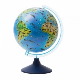 Глобус зоогеографический Globen, 25 см, на круглой подставке