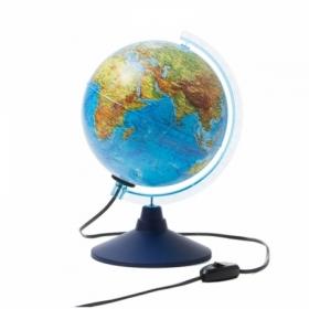 Глобус физико-политический Globen, 21 см, с подсветкой на круглой подставке
