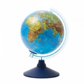 Глобус физико-политический Globen, 21 см, с подсветкой от батареек на круглой подставке
