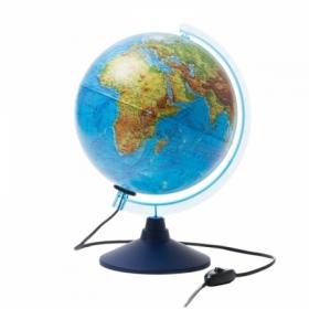 Глобус физико-политический Globen, 25 см, с подсветкой на круглой подставке