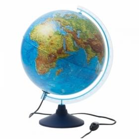 Глобус физико-политический Globen, 32 см, с подсветкой на круглой подставке