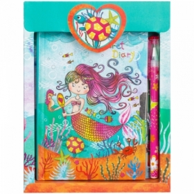 "Записная книжка 7БЦ А6 ArtSpace ""Beauty mermaid"" с замком + шариковая ручка, 64 листа"