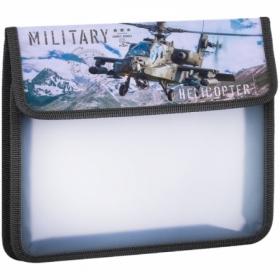 """Папка для тетрадей А5 ArtSpace """"Вертолет"""" 1 отделение, на липучке"""
