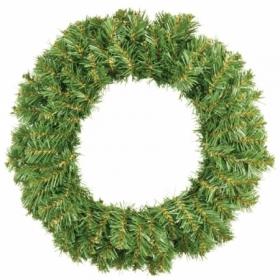 "Венок ""Новогодний 1"" темно-зеленый, диаметр 50 см"