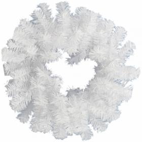 "Венок ""Новогодний 7"" белый, диаметр 35 см"
