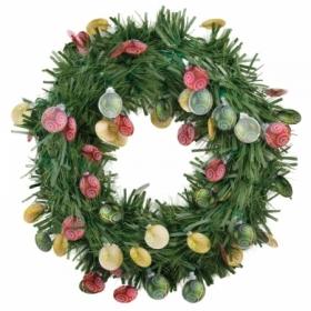 Венок новогодний зеленый, диаметр 40 см