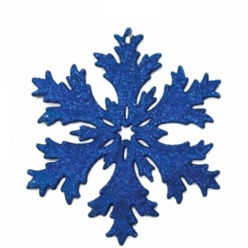 """Елочное украшение пластиковое """"Снежинка"""", глиттер, 10,5х10,5 см, синяя"""