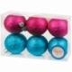 Набор пластиковых шаров 6 шт, 60 мм бюрюзовый/розовый