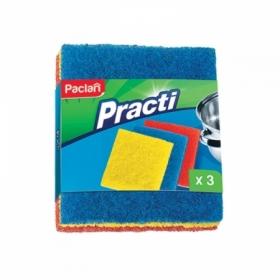 """Мочалки для посуды из игольчатого абразива Paclan """"Practi"""", 3 шт"""