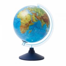 Глобус физико-политический Globen, 25 см, с подсветкой от батареек на круглой подставке