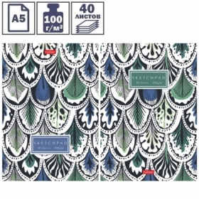 """Блокнот для эскизов и зарисовок А5 на склейке Hatber """"Sketchpad. Pattern"""", 40 листов"""