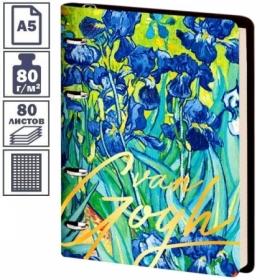 """Тетрадь на кольцах А5 Greenwich Line """"Vision. Van Gogh. Irises"""", 80 листов, тонированный блок"""
