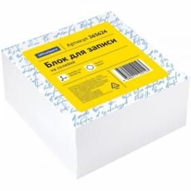 Блок для записи на склейке OfficeSpace 8х8х4см, белый