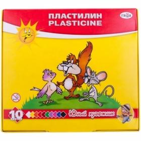 """Пластилин Гамма """"Юный художник"""", 10 цветов, 140 г, со стеком"""
